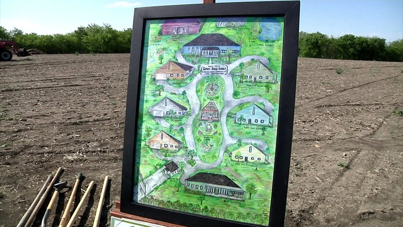 A drawing shows the arrangement of a series of cottages planned for the North Texas Geary Girls Ranch near Howe. (KTEN)