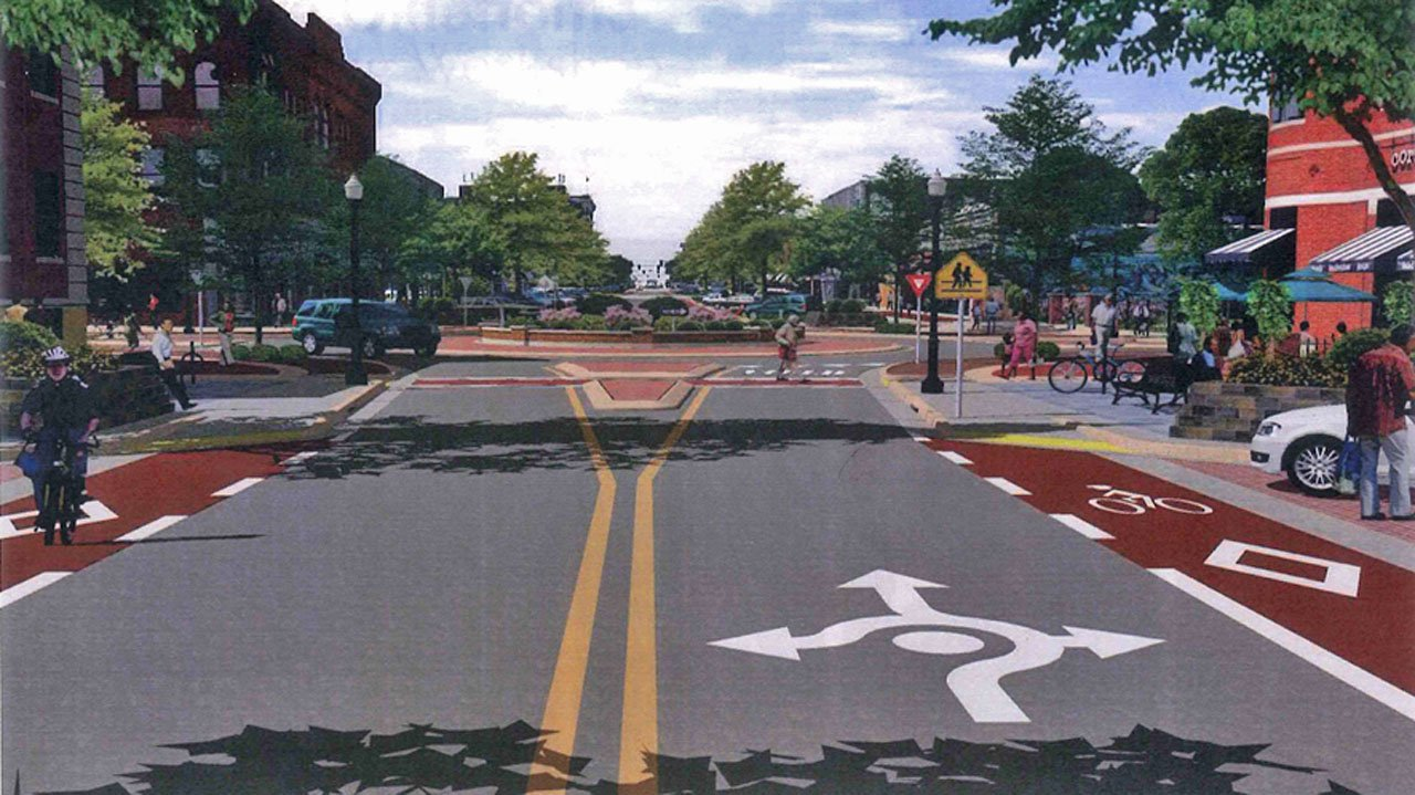 An artist's rendering of the downtown Ardmore streetscape project. (City of Ardmore)