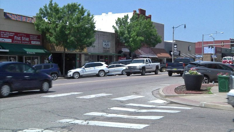 The upper floors of commercial buildings in downtown Durant offer opportunities for residential lofts. (KTEN)
