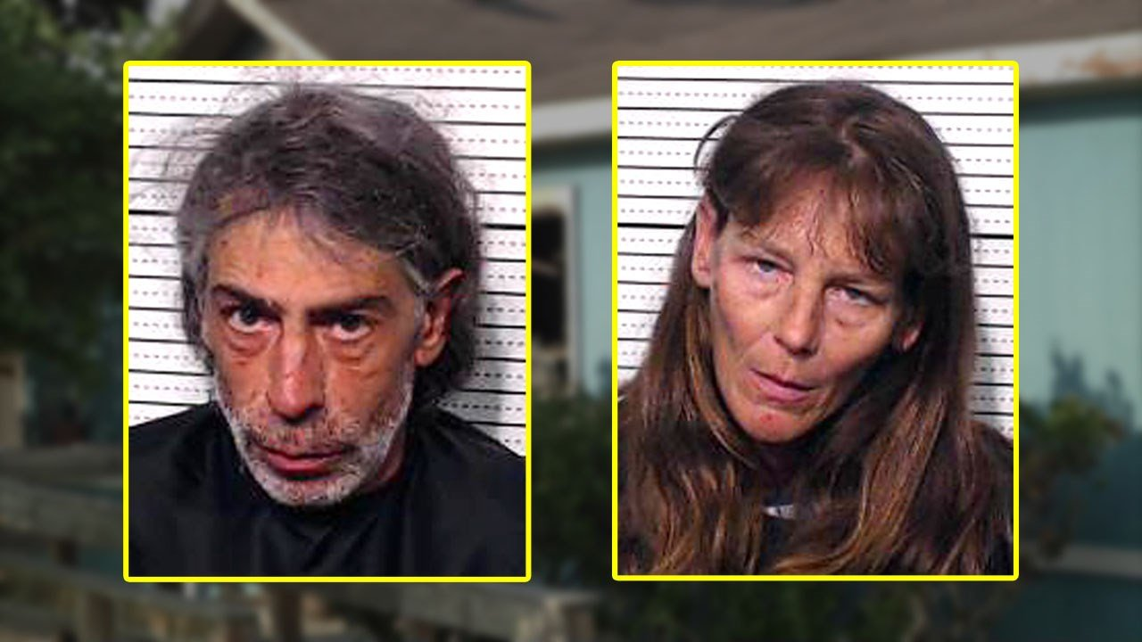 Michael and Shannon Ouellette were arrested after allegedly assaulting Southmayd's police chief on May 15, 2018.  (Grayson County Jail)