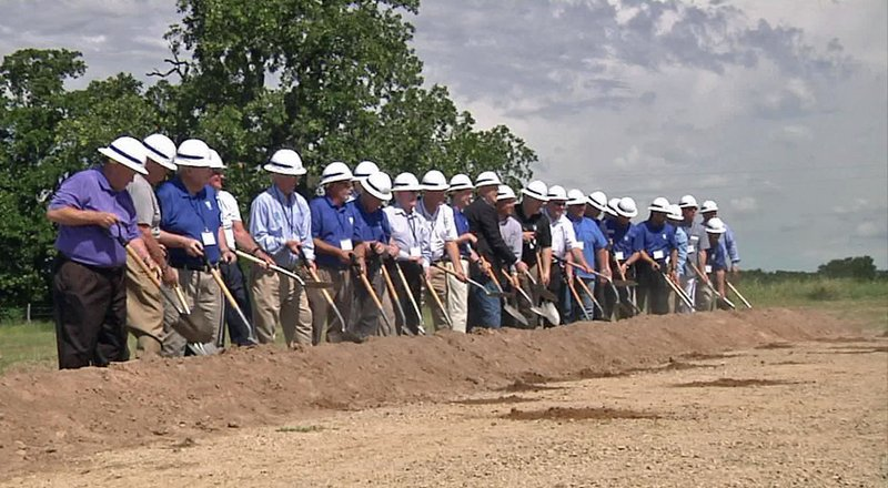 The groundbreaking ceremony for the North Texas Municipal Lake project on May 25, 2018. (KTEN)