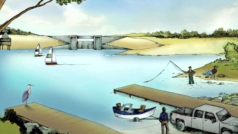 An artist's rendering of North Texas Municipal Lake. (Courtesy)