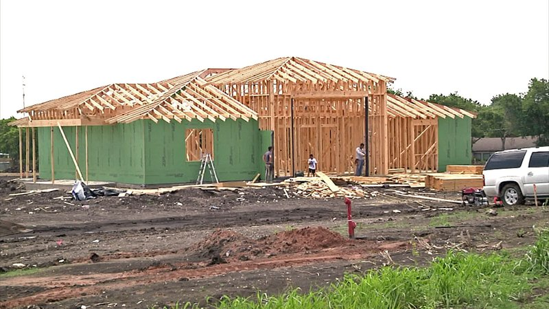 Sherman is on pace for a record year of new housing construction. (KTEN)
