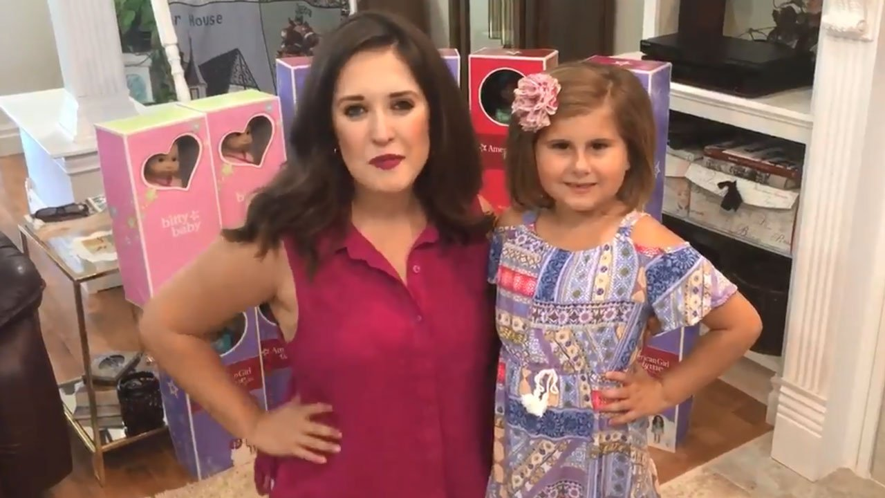 Brinley Williams with KTEN reporter Amelia Mugavero. (KTEN)