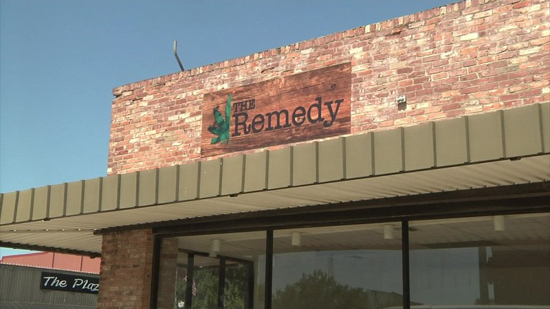 The Remedy, one of two new marijuana-related businesses in Durant. (KTEN)