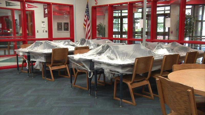 Water damage repairs are nearing completion at Ardmore Middle School. (KTEN)
