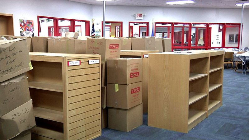 Facilities at Ardmore Middle School are being put back together after flooding damaged the campus in May. (KTEN)