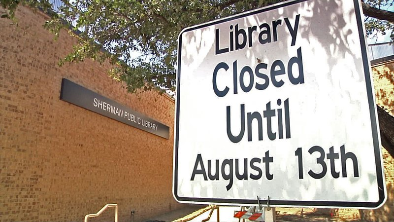 The Sherman Public Library will reopen 15 months after an arson fire. (KTEN)