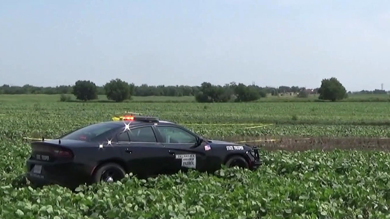 Five people died when their small plane crashed in a field near Ponca City, Oklahoma, on August 4, 2018. (KFOR)
