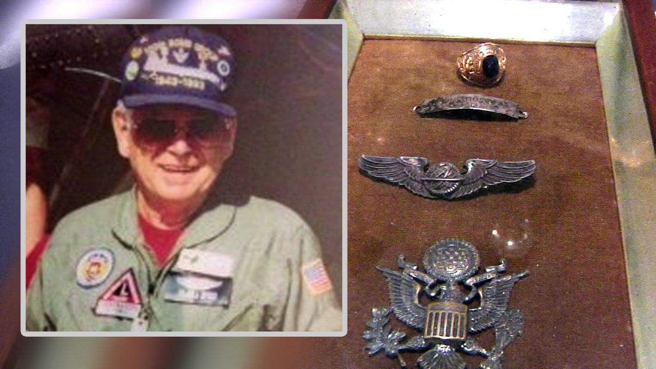 Here is the box of artifacts belonging to World War II veteran John Carl Thompson. (KTEN)