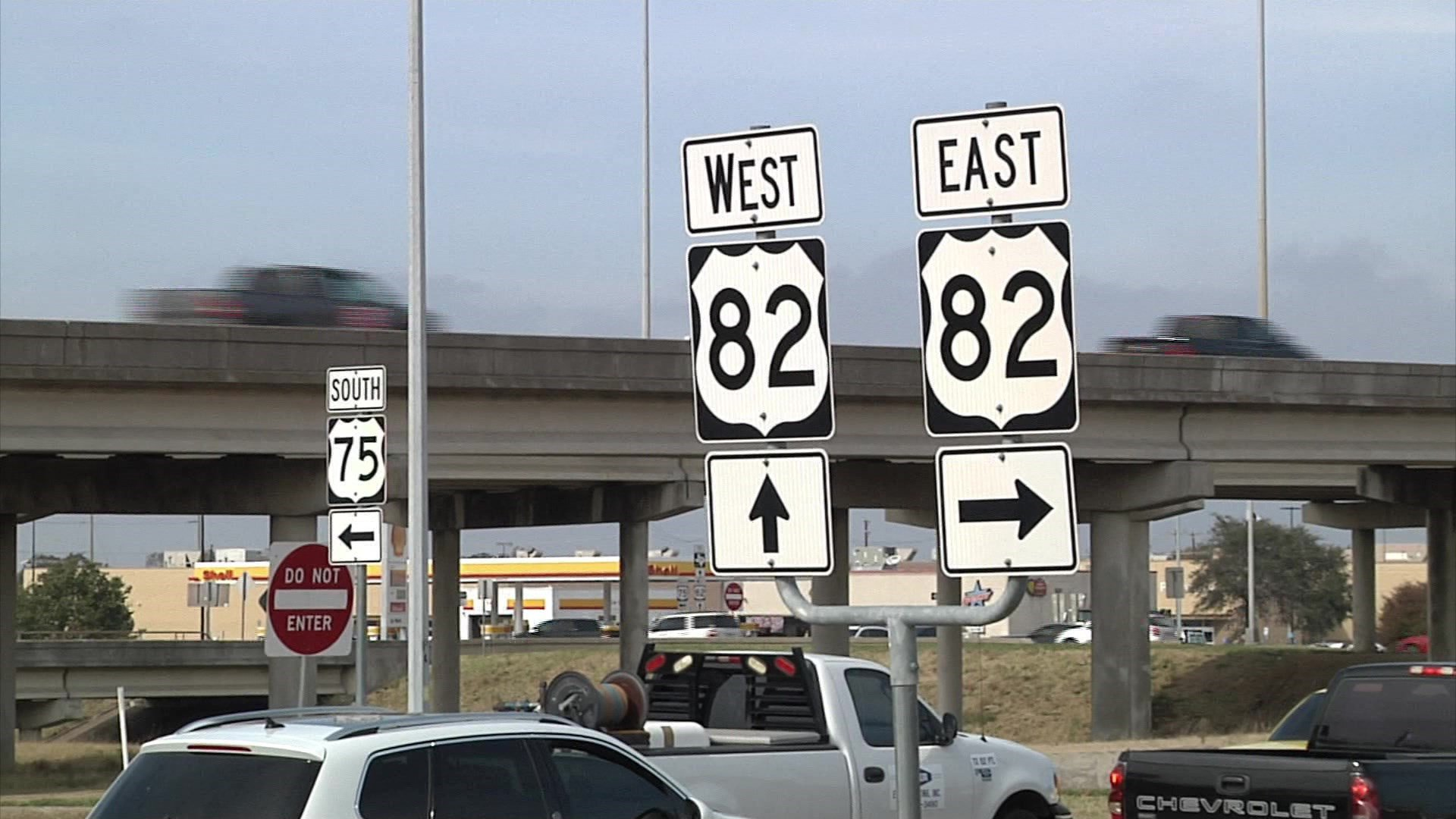 The intersection of U.S. 75 and U.S. 82 in Sherman will get a major upgrade. (KTEN)