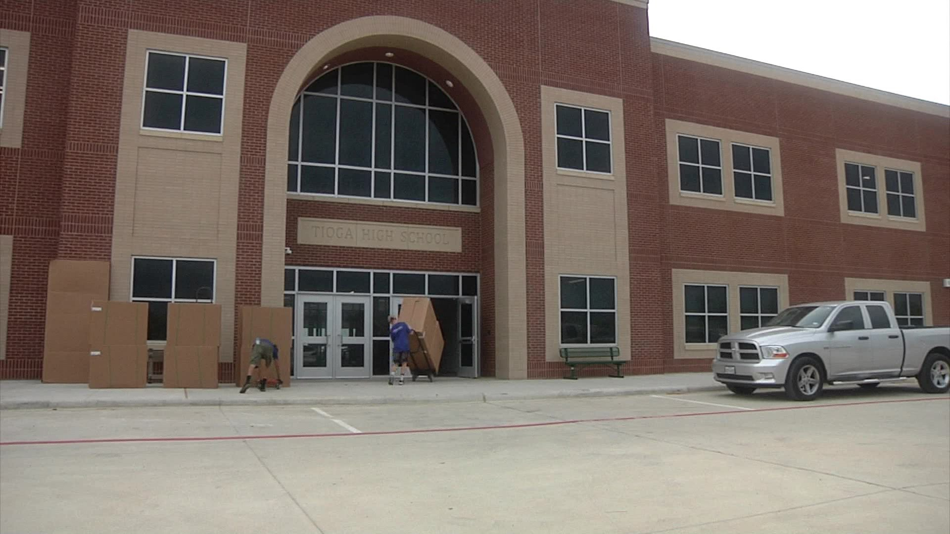 The new Tioga High School opens for students on August 15, 2018. (KTEN)