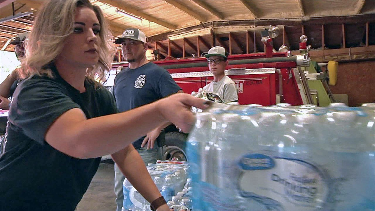 Charla Janoe helps make sure that volunteer firefighters are taken care of. (KTEN)