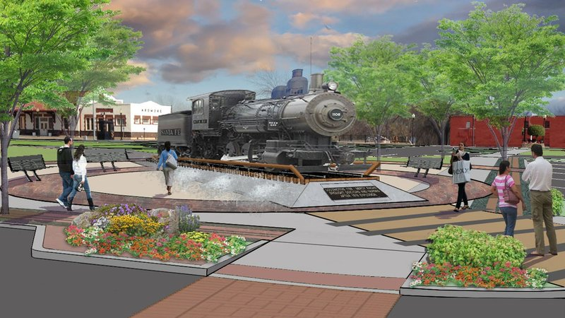 An artist's rendering of Depot Park in Ardmore. (Courtesy Ardmore Main Street Authority)