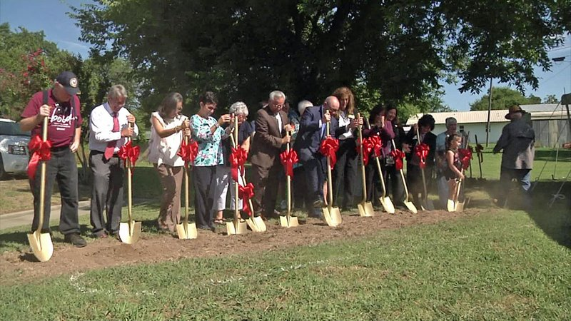 Groundbreaking ceremonies for the Chickasaw Nation Community Center in Achille. (KTEN)
