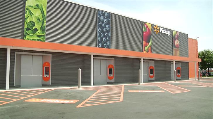 Sherman Walmart's new kiosks for online grocery pick up. (KTEN)