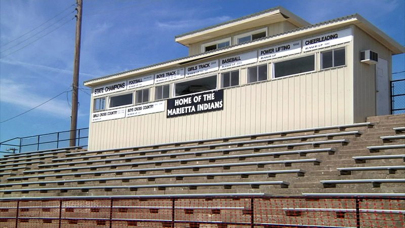 Proceeds from a bond issue will let Marietta Public Schools install new bleachers and a press box at McClain Stadium. (KTEN)