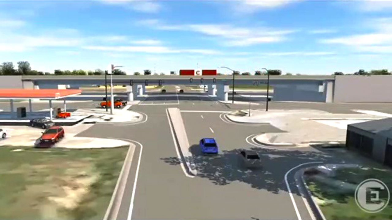 An artist's conception of a planned U.S. 69/75 intersection upgrade in Calera. (ODOT)