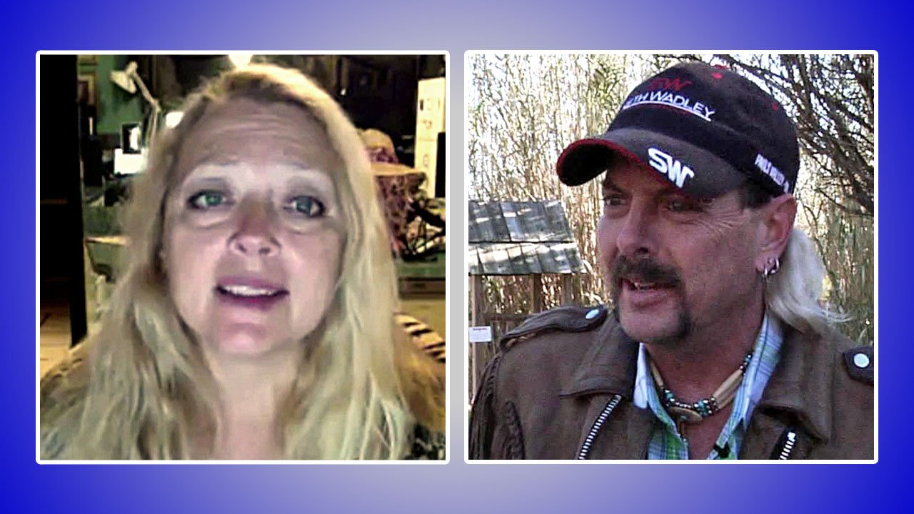Carole Baskin, left, and Joseph Maldonado-Passage (KTEN)