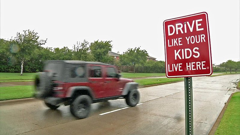 New signs remind Anna motorists to slow down. (KTEN)