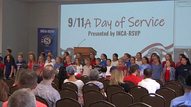 A ceremony at the Chickasaw Community Center in Tishomingo marked the 17th anniversary of the 9/11 terror attacks. (KTEN)