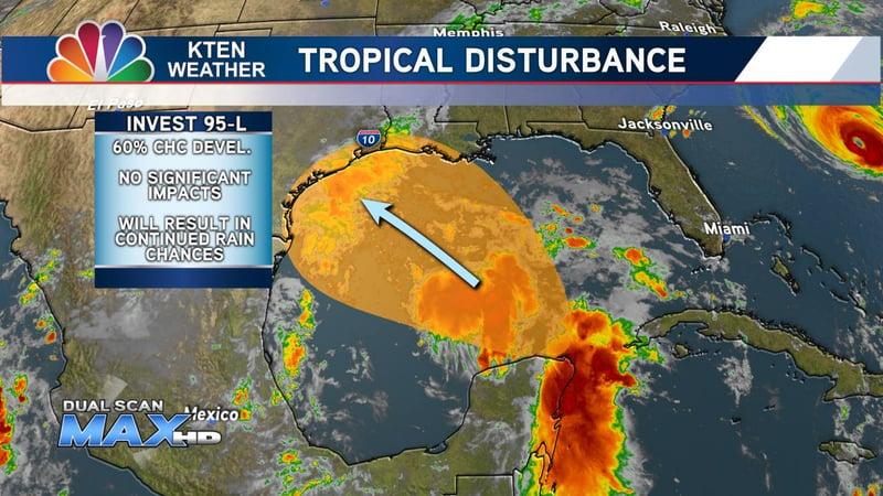 Tropical Disturbance in Gulf