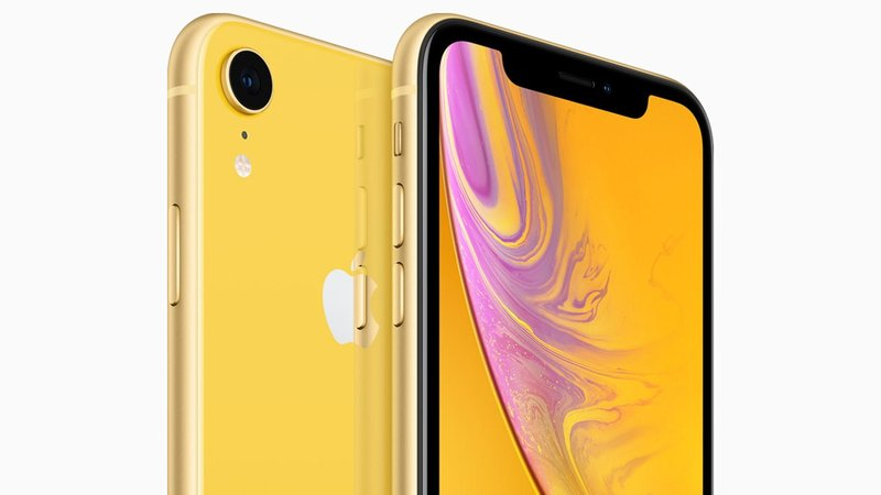 The new iPhone XR will be available in yellow and six other colors. (Apple)