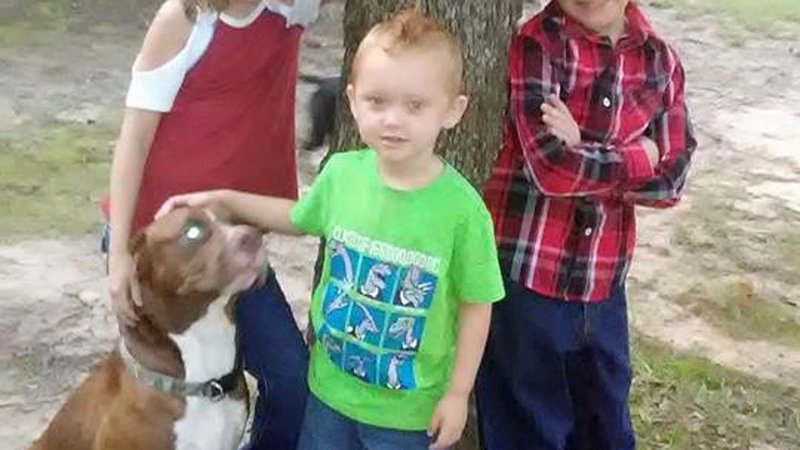 Jase Hawkins poses for a photo with his service dog Brutus. (Facebook)