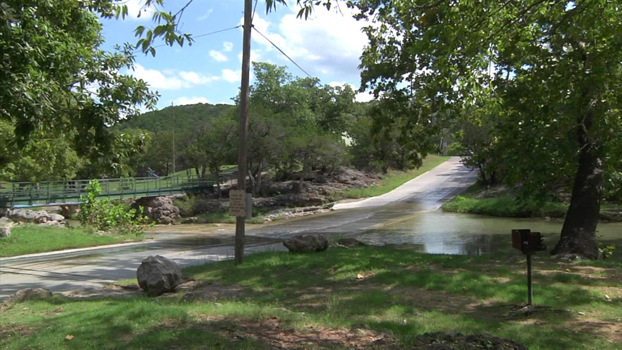 Low water crossings at Turner Falls Park could be cut off by flash flooding. (KTEN)
