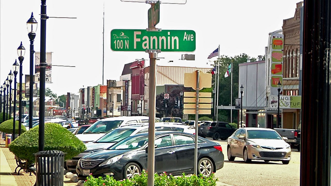 Downtown Denison. (KTEN)