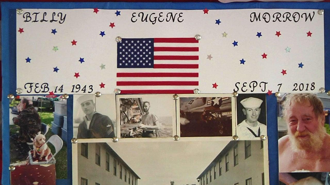 A tribute to Navy veteran Billy Morrow. (KTEN)