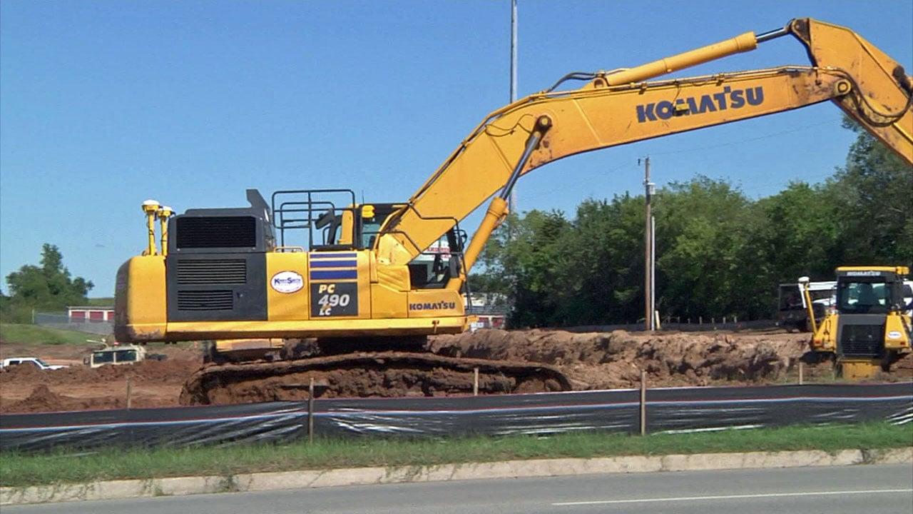 Work is underway on the Market Street development in Ardmore. (KTEN)