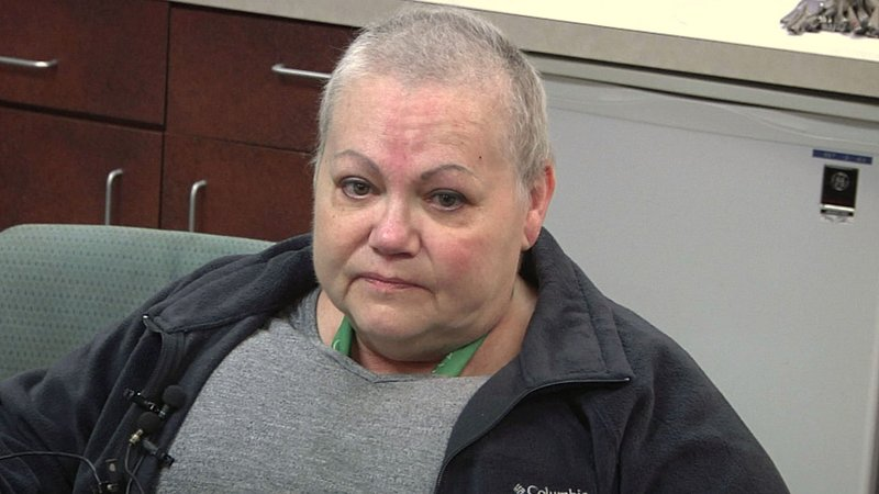 Pauls Valley hospital employee and cancer patient Melody Williams says she no longer has health insurance. (KTEN)