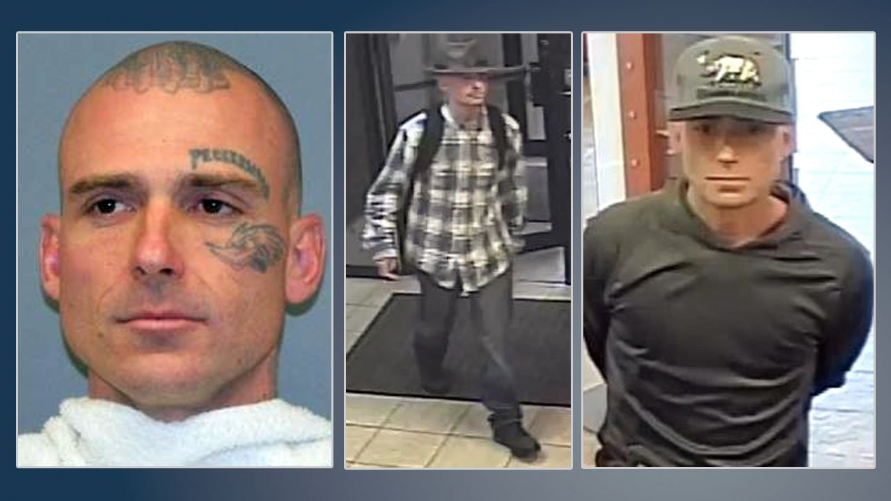 The man who robbed a Sherman bank on October 12, 2018 (center) was identified as Robert Darren More. (Richardson PD/Sherman PD)