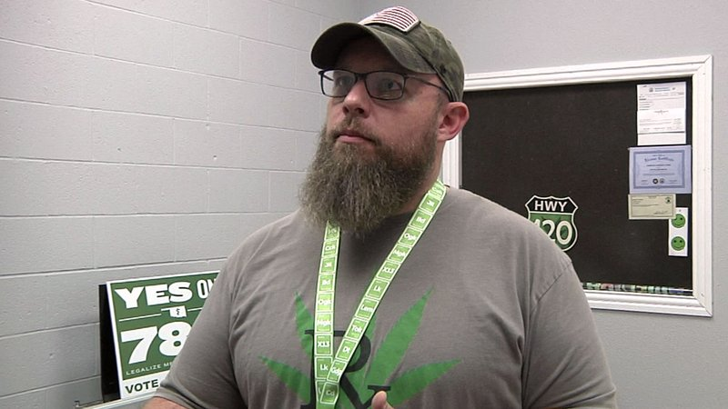 Todd Larkin's shop in Ardmore was issued the city's first medical marijuana permit. (KTEN)