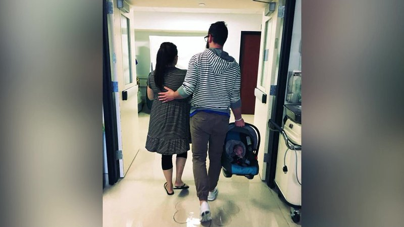 Hannah and Jacob Sheriff were able to take Urias home after 20 harrowing days of hospitalization. (Courtesy)