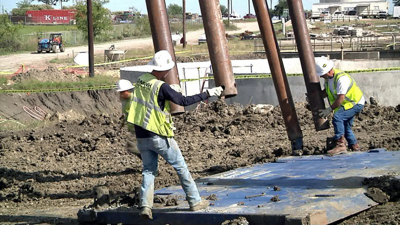 Work is underway on an expansion at the Sherman water plant. (KTEN)