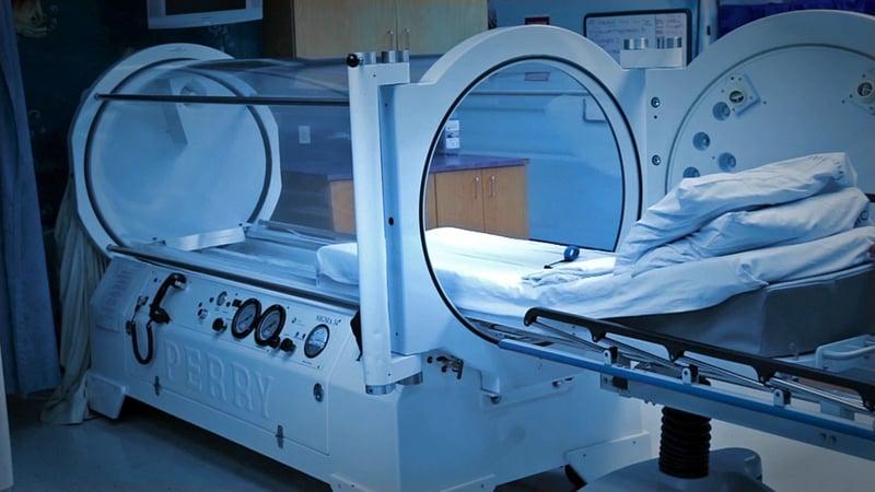 A hyperbaric oxygen chamber can help speed healing for stubborn wounds. (KTEN)