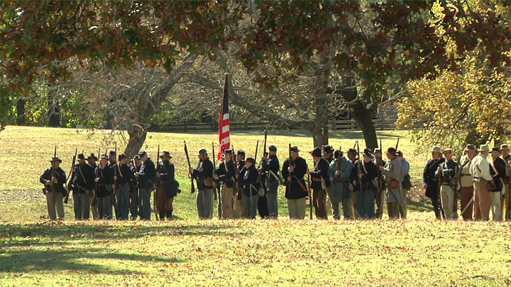 The Battle of Middle Boggy was reenacted at Fort Washita in Durant. (KTEN)