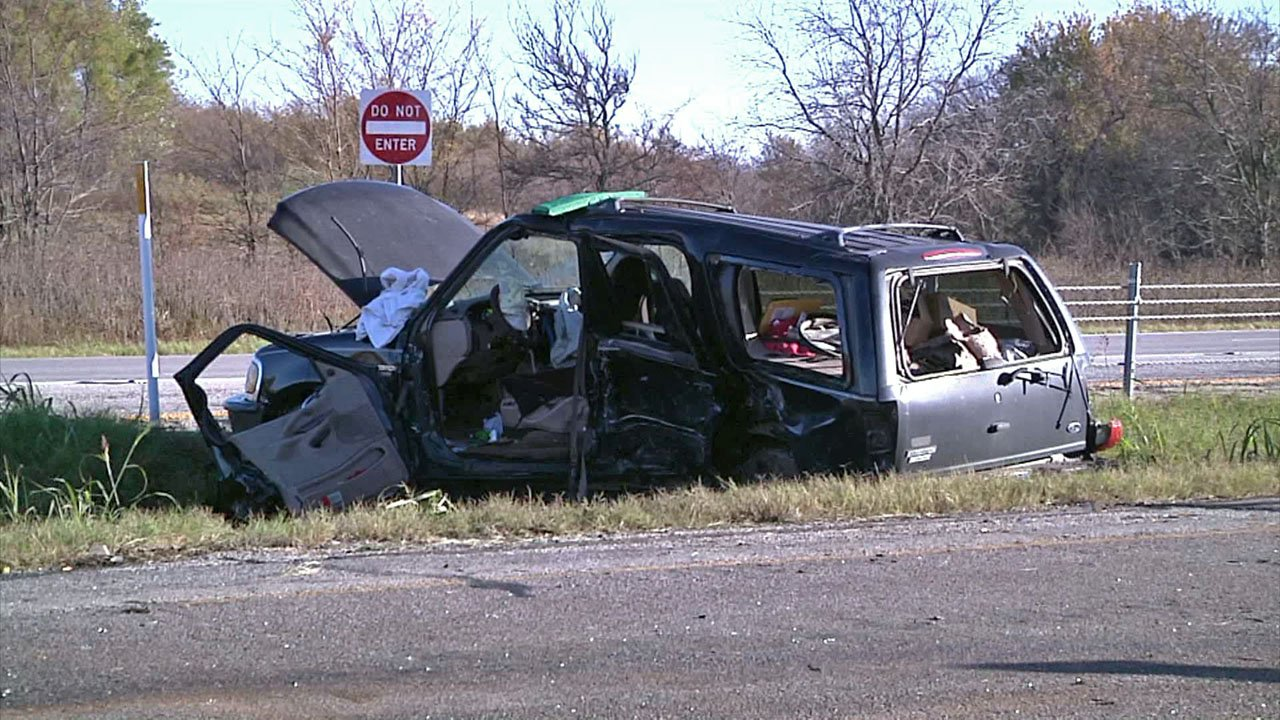 Two motorists were injured in a collision on U.S. 82 between Whitesboro and Sherman on November 6, 2018. (KTEN)