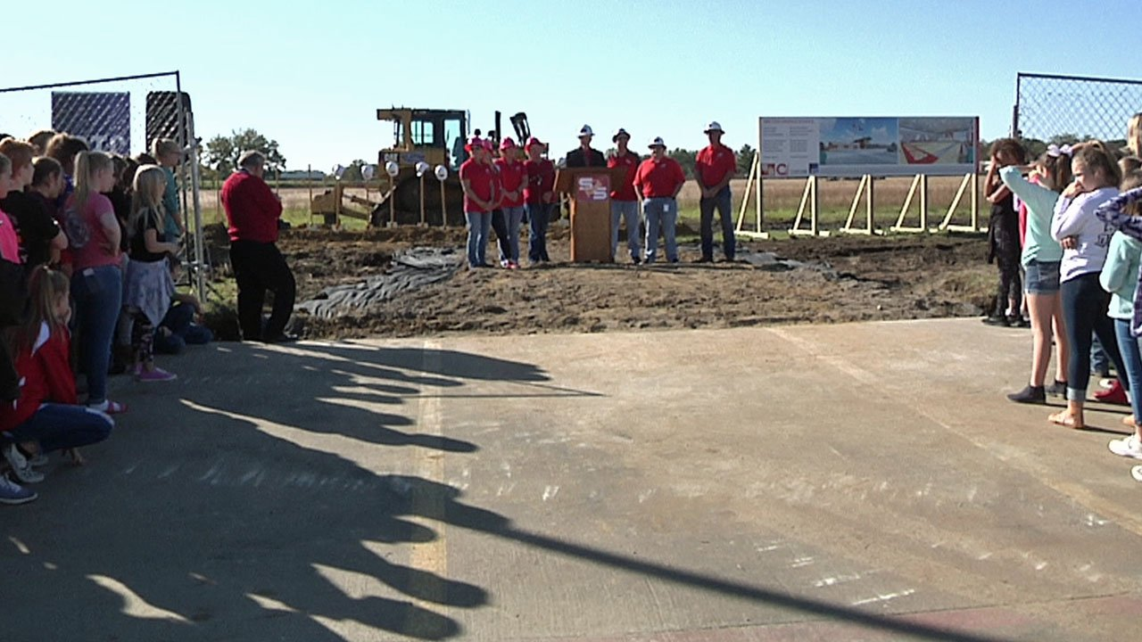 The S&S CISD held groundbreaking ceremonies for a new middle school on November 6, 2018. (KTEN)