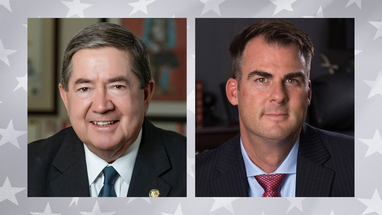 Oklahoma gubernatorial candidates Democrat Drew Edmondson (D), left, and Kevin Stitt (R). (Courtesy)