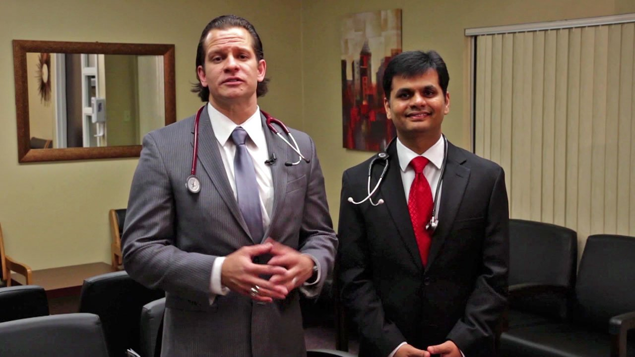 AllianceHealth Durant physicians Imran Plumb (left) and Satish Bagdure. (AllianceHealth Durant)