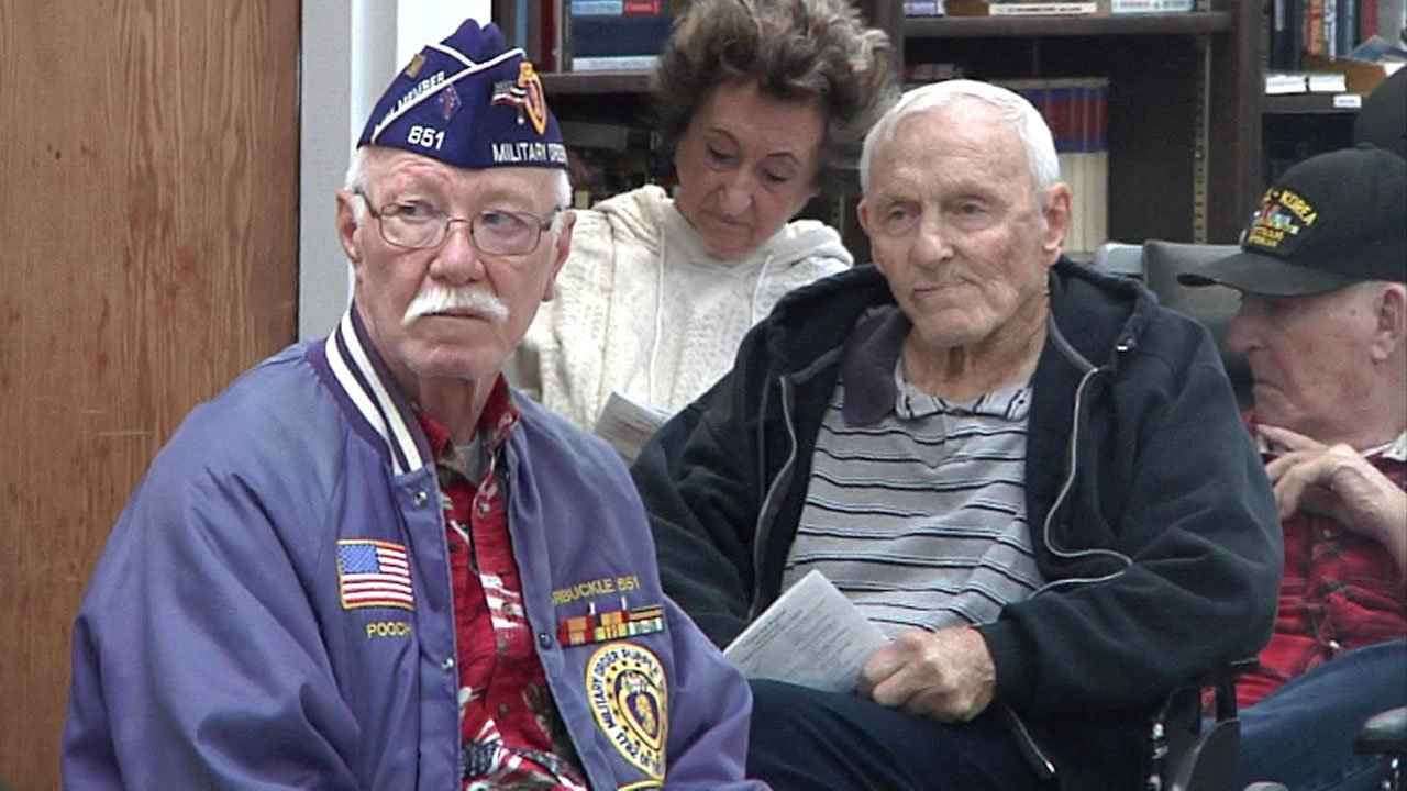 Military veterans were honored at a special ceremony at the Ardmore Veterans Center. (KTEN)