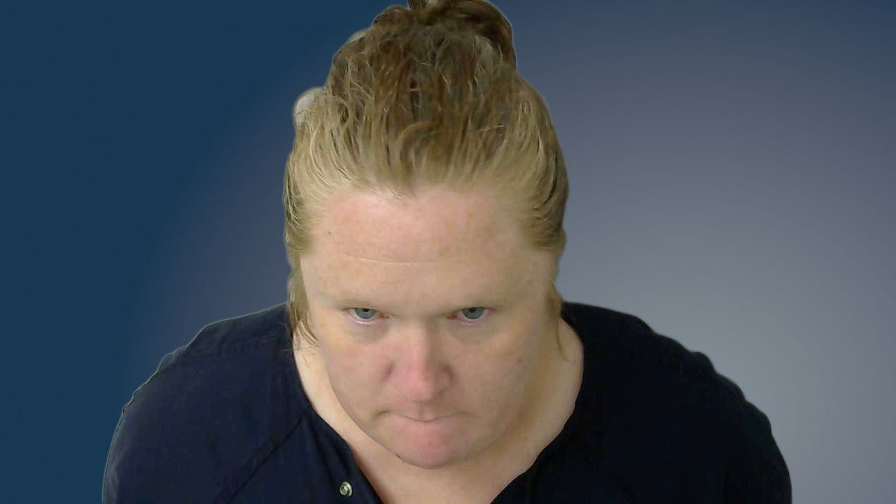 Amy Hall, 38, is being held in connection with the murders of her two teenage children. (Okmulgee County Jail)