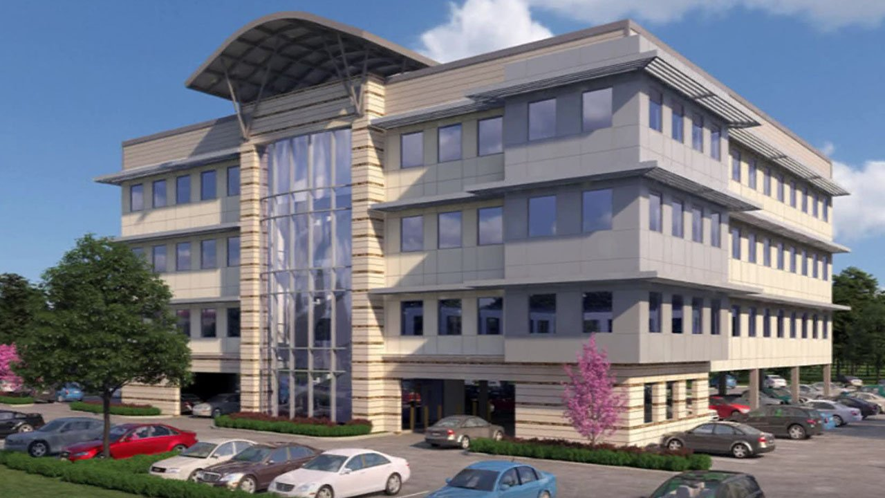 An artist's conception of a new medical office building planned for Denison. (Courtesy)