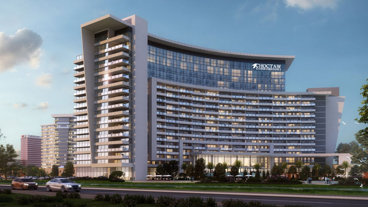 An artist's rendering of the future Choctaw Casino Durant expansion. (Tutor Perini Corp.)