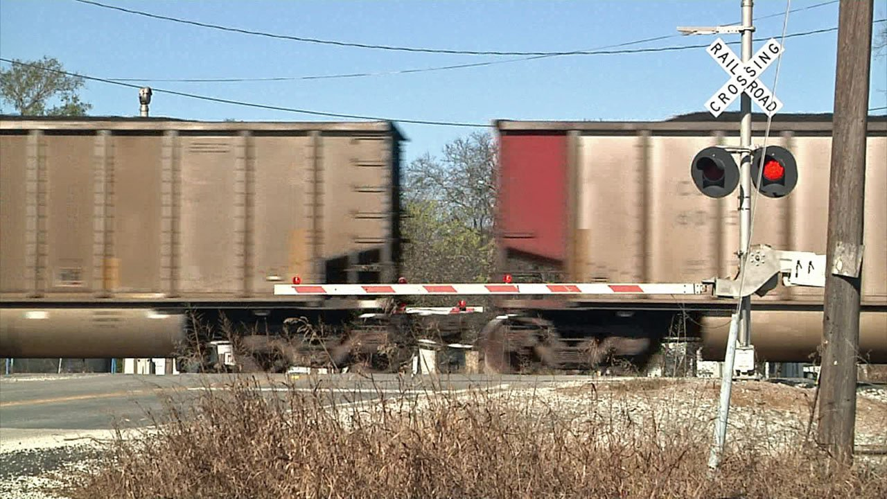 Two S&S Middle School students were seen walking along railroad tracks near the campus on November 13, 2018. (KTEN)