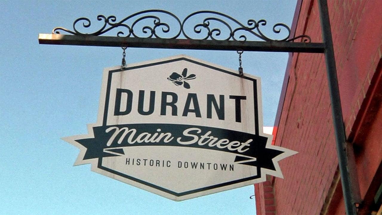 Durant Main Street sign. (KTEN)