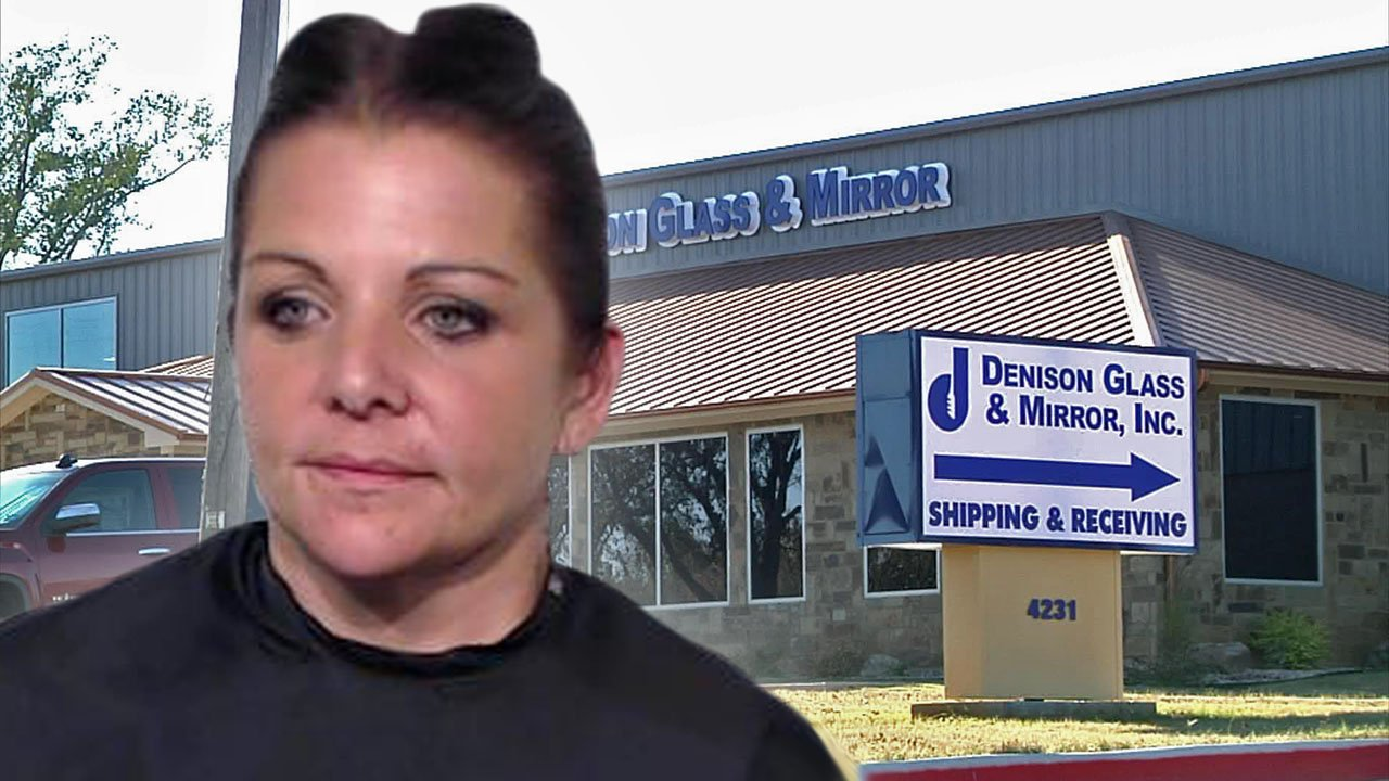 Andrea Weathers was convicted of embezzling more than $656,000 from Denison Glass and Mirror. (KTEN)